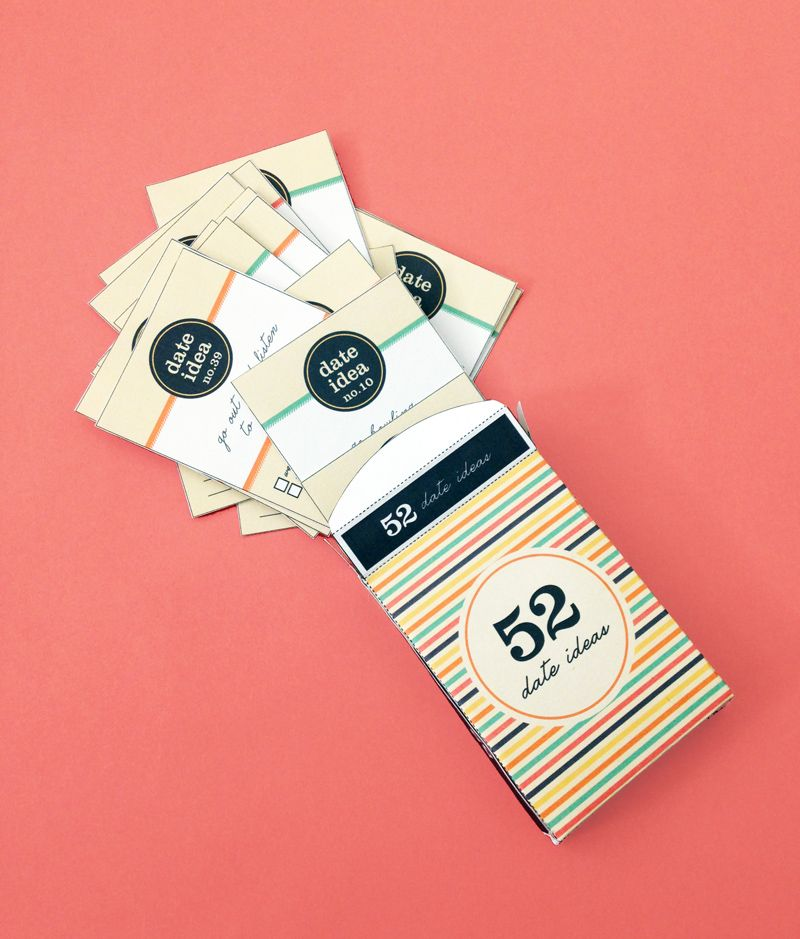Free Printable Diy Date Ideas Card Deck And Gift Box Deck Of Cards Diy Gifts For Boyfriend Free Printables