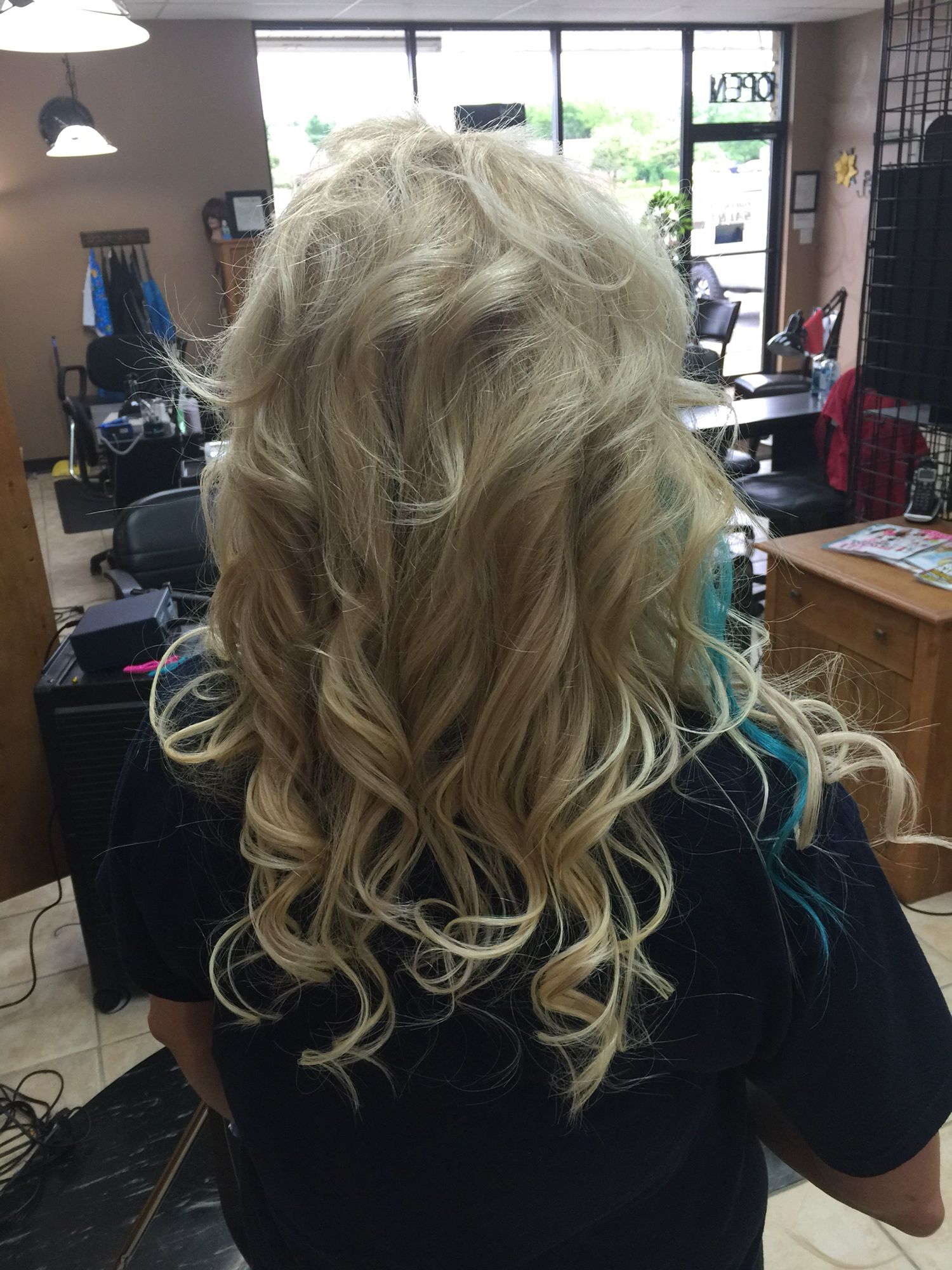 Beautiful Vanilla Platinum Blonde Extensions Blue Peek A