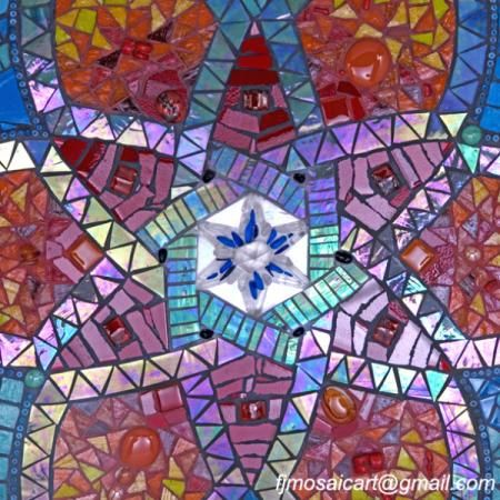 Transicion tonal en mosaico mosaiquismo murales for Espejos murales