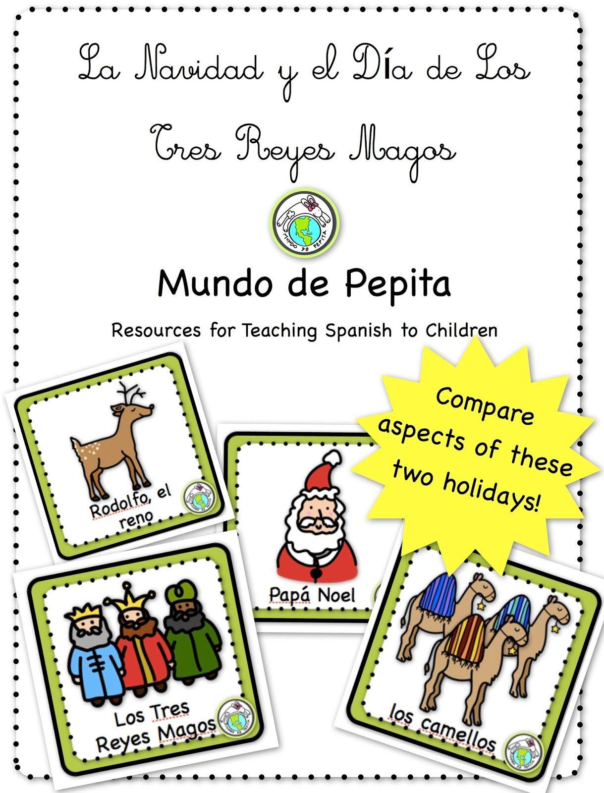 Comprehensible Input Infographic Comparing La Navidad And El Dia De Los Reyes Magos