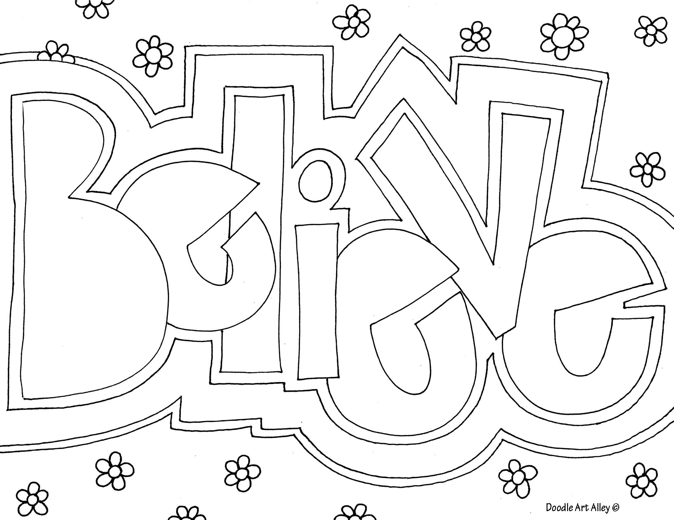Believe Coloring Page