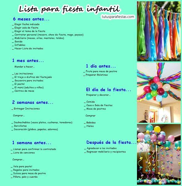 Lista para fiesta infantil tutus disfrases y fiestas - Cosas necesarias para una casa ...