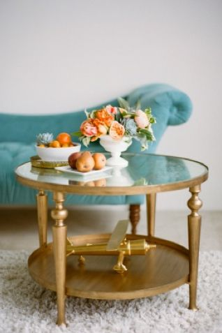 peach and teal wedding ideas.  this would be a great way to remember my grandmother.