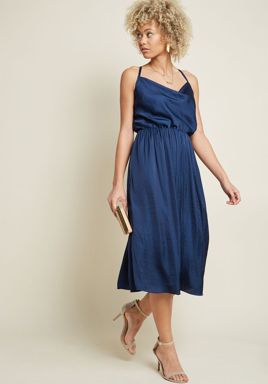 Glamorous Guest Midi Dress in Navy ModCloth Dresses