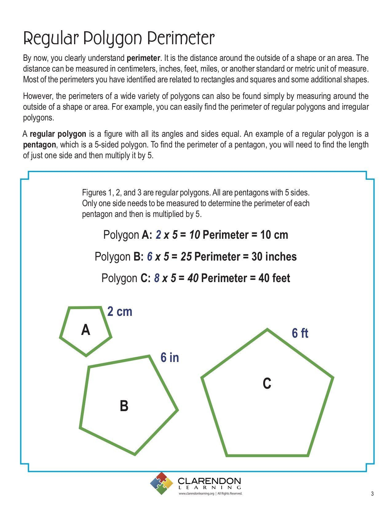 Perimeter Of Irregular Shapes Worksheet Perimeters Of Polygons Lesson Plan In 2020 Regular Polygon Kindergarten Spelling Words Writing Sentences Worksheets