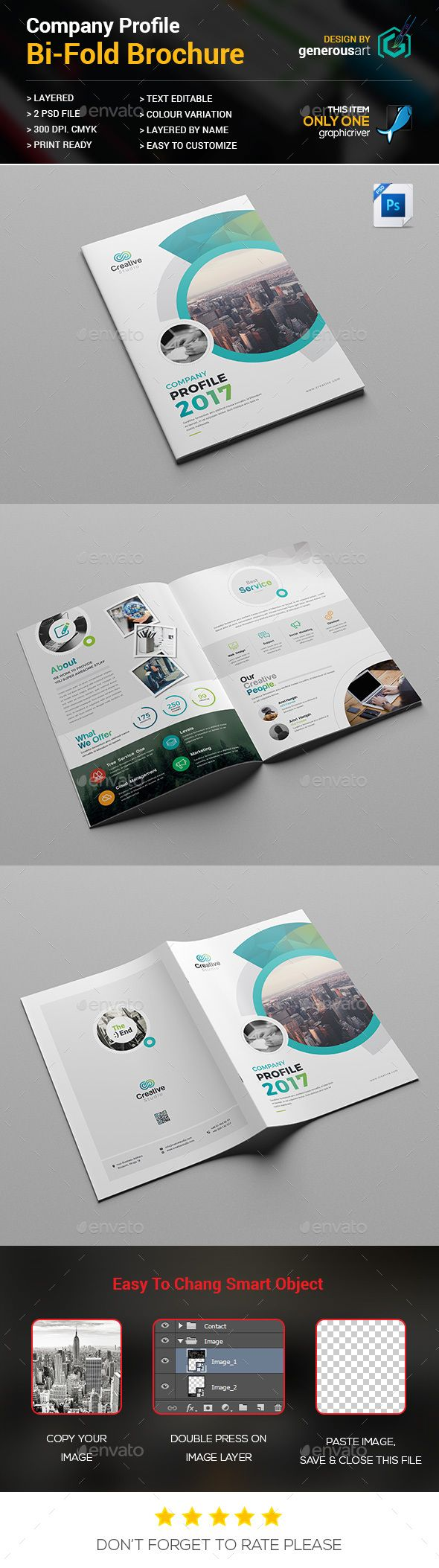 Bifold Brochure Photoshop Psd Template Company Available Here