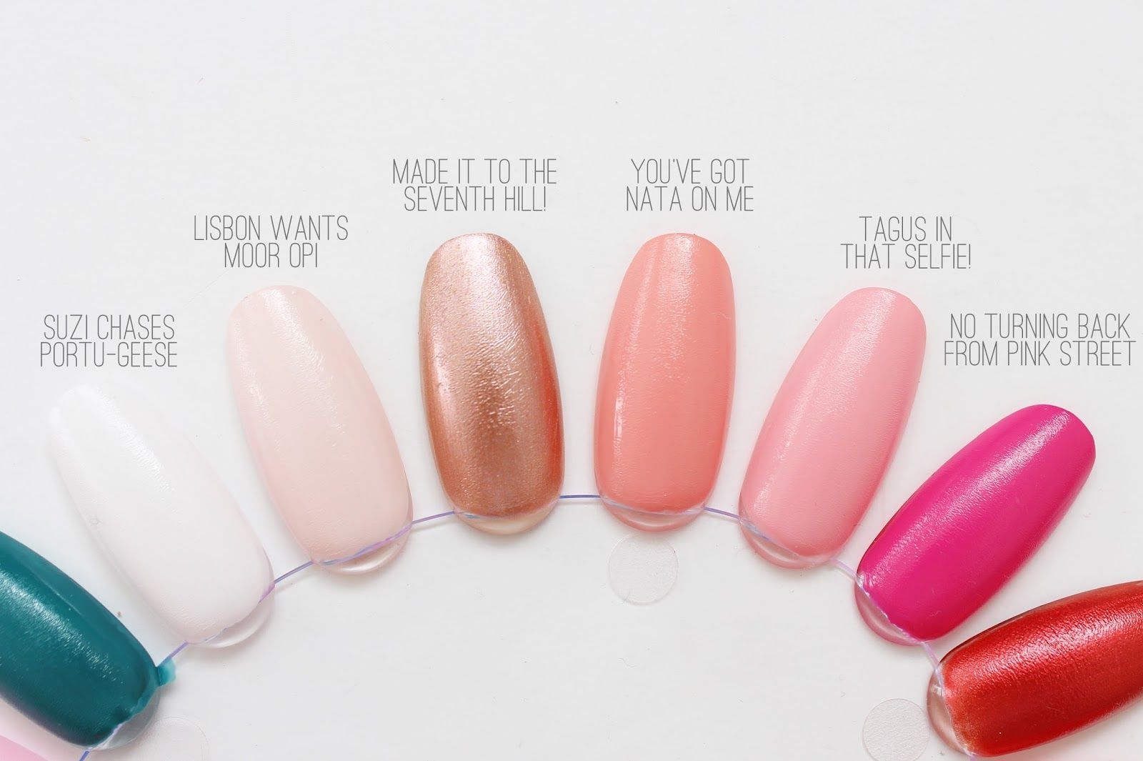 Opi Lisbon Collection Swatches Cassandramyee Nz Beauty Blog Nail Colors Opi Swatch