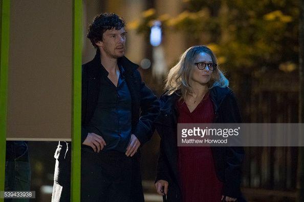 ニュース写真 : Benedict Cumberbatch spotted during filming for...