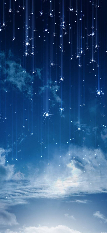 Huawei Honor 8x Achtergronden Wallpapers Achtergrond Hintergrundbilder Wallpaper Star Wallpaper Blue Star Wallpaper Galaxy Wallpaper