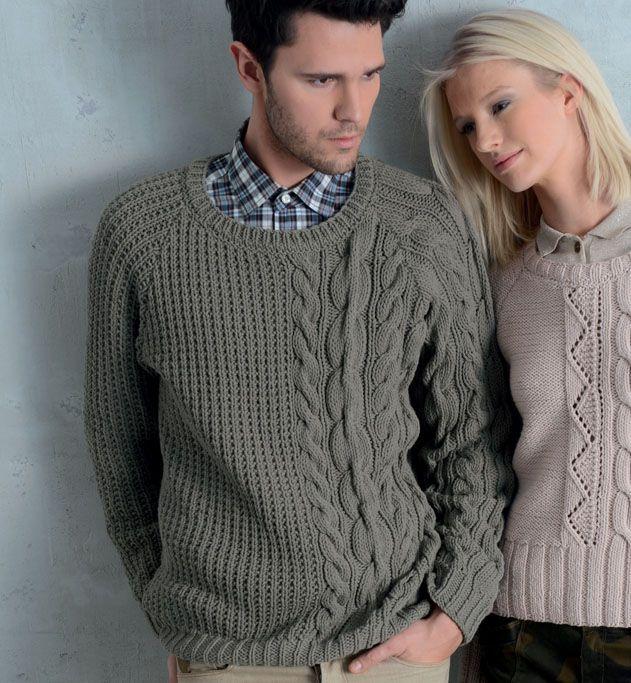 tricoter pull irlandais modele phildar