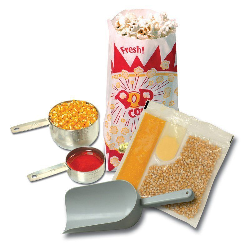 Popcorn Machine Starter Set Poppers Pop Bags Scoop Flavor Home Kettle Corn Maker…