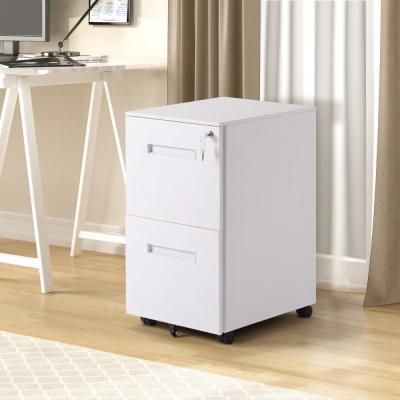 Merax White 2 Drawers File Cabinet With Lock Fully Assembled Except Wheels Wf191011aak Filing Cabinet 2 Drawer File Cabinet Cabinet