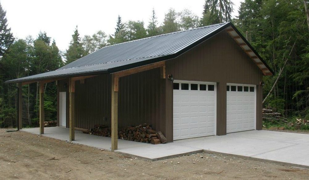 Garage In Oak Harbor Wa Constructed By Spane Buildings Of Mount Vernon Wa Barn Builders Pole Barn Builders Barn Garage Plans