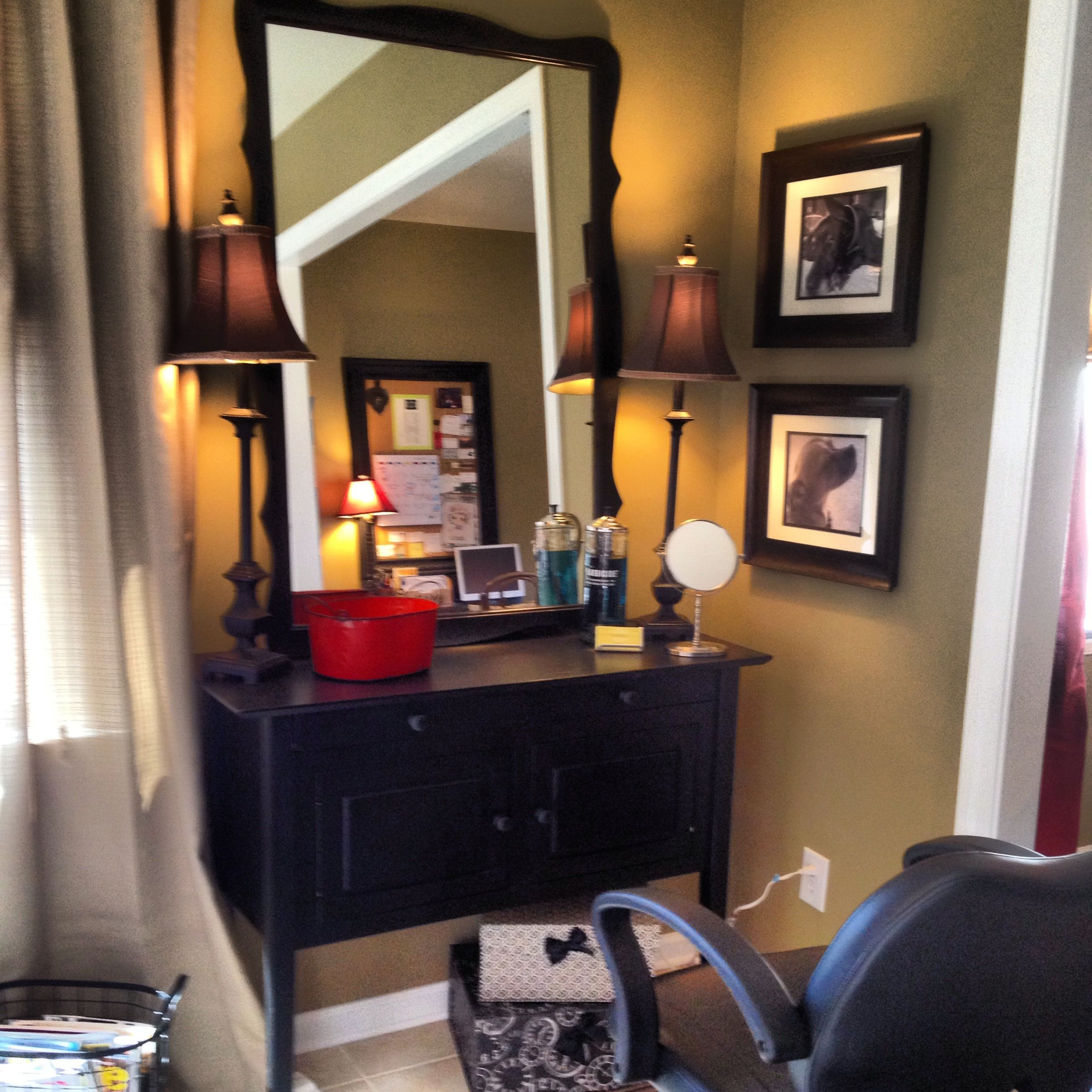 Attractive Home Hair Salon Decorating Ideas Part - 4: French Country Salon. Where Hair Meets Design. Www.thefunkydebutante.com