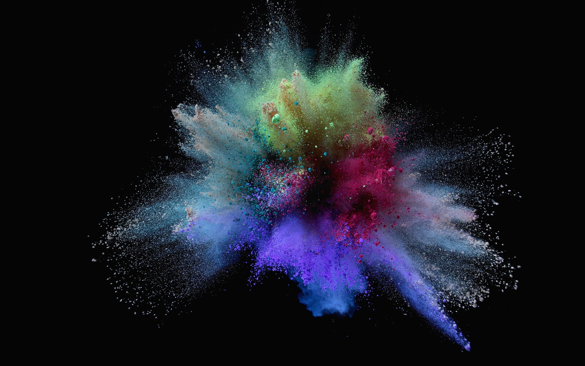 Hd wallpaper with black background - Explosion Of Colorful Sand On Black Background Hd Wallpaper 1920x1200