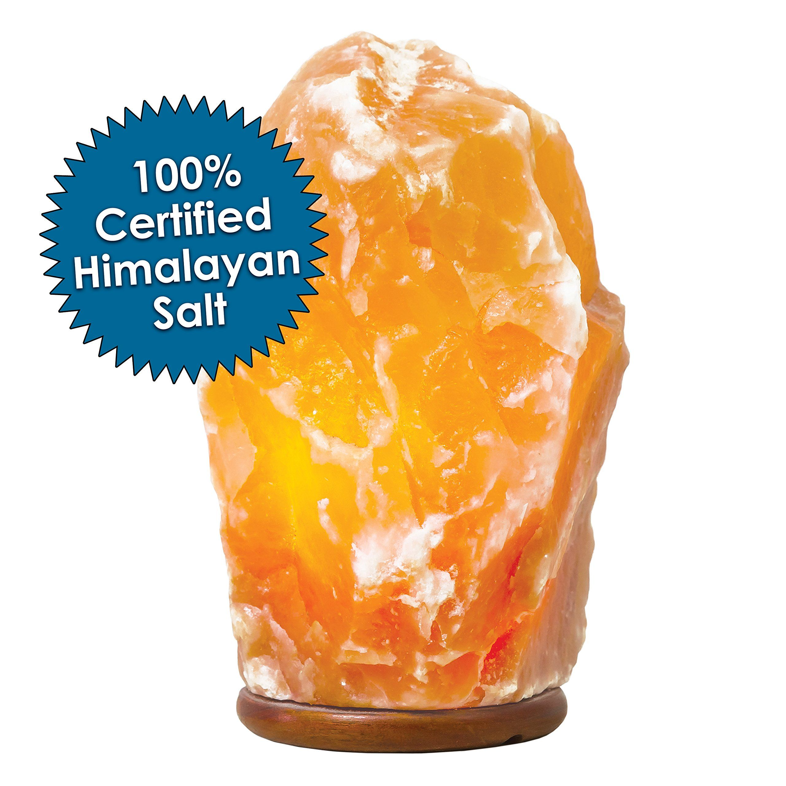Authentic Himalayan Salt Lamp Stunning Himalayan Salt Lamp  Natural Hand Carved 100% Authentic Ionic Pink Decorating Design