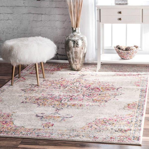 nuLOOM Vintage Persian Medallion Area Rug | rugs | Pink rug, Rugs ...