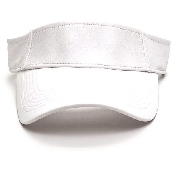 WHITE Sun Goddess Faux Leather Visor ( 7.86) ❤ liked on Polyvore featuring  accessories b89e63fe00c
