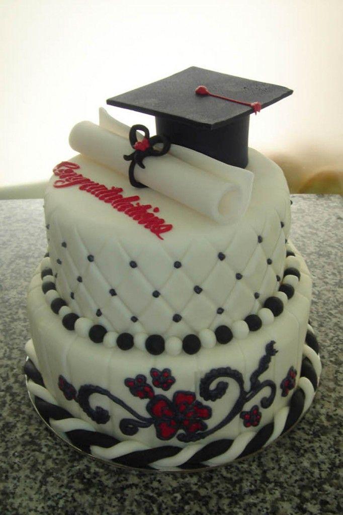 Cake Design University : Graduation Sheet Cake - Square cakes have logos for high ...