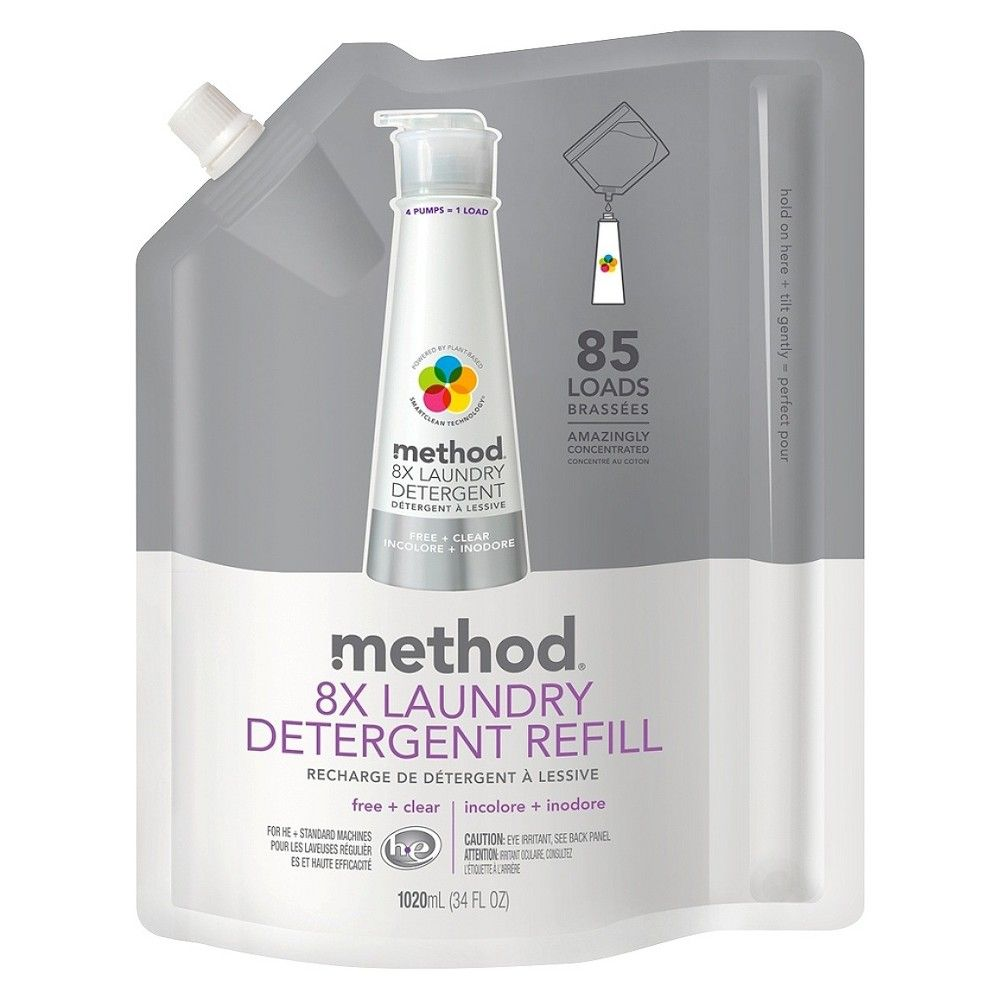 Method Free Clear Laundry Detergent Refill 34 Oz Laundry