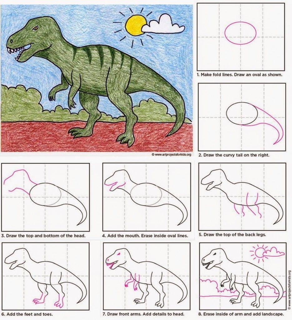 Draw a T-Rex #dinosaurart