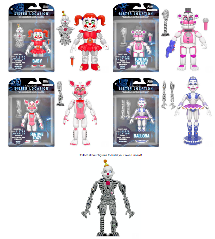 Toys & Hobbies Hard-Working Horror Game Five Nights At Freddys Toys Action Figure Funtime Freddy Ballora Circus Babys Pizza World Figurine Gift For Boys