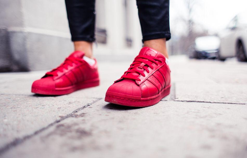 adidas superstar rojas mujer