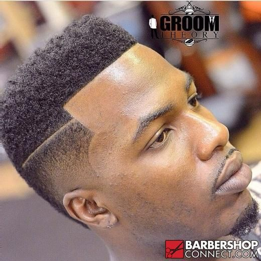 Fade With Part Nice Clean Cut High Top Fade Edge Up