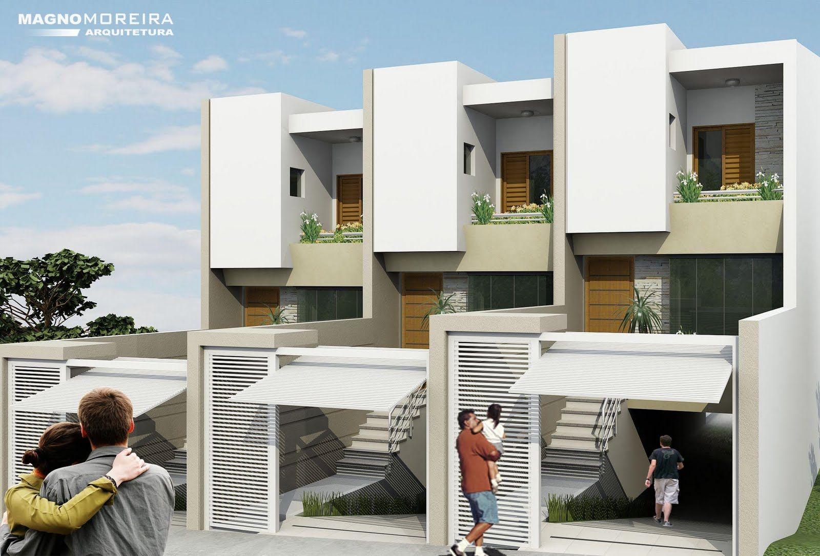 Sobrados geminados pequenos 1 sobrados pinterest for Fachadas de apartamentos modernas