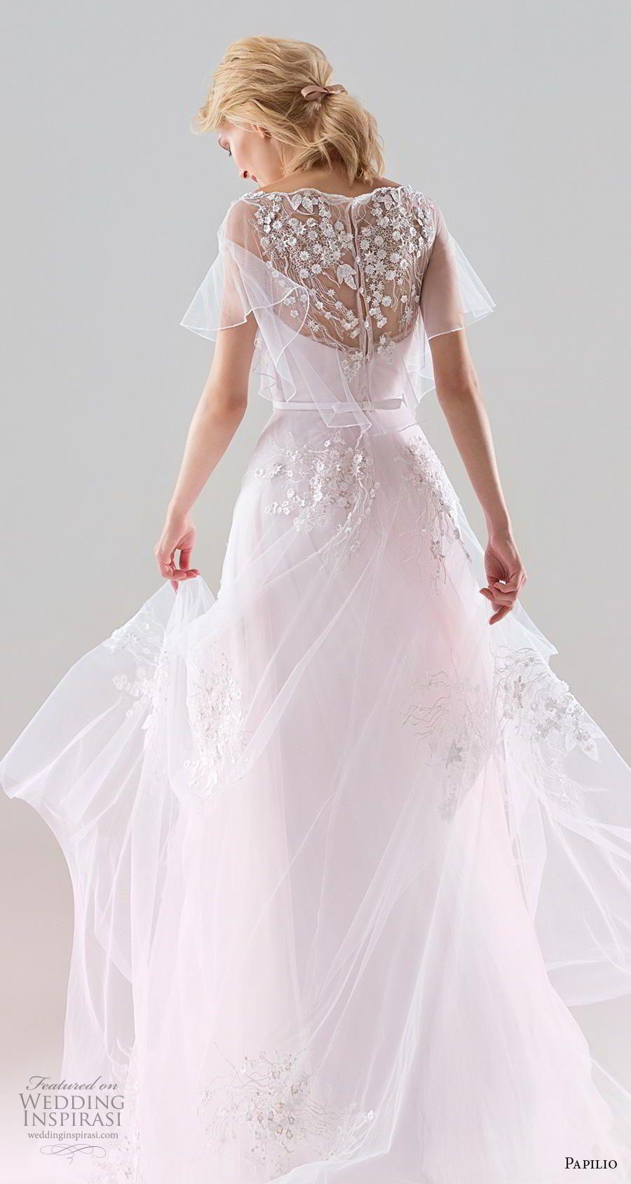 Papilio 2019 Wedding Dresses White Wind Bridal Collection Wedding Inspirasi Wedding Dresses Nontraditional Wedding Dress Sheer Wedding Dress [ 1688 x 900 Pixel ]