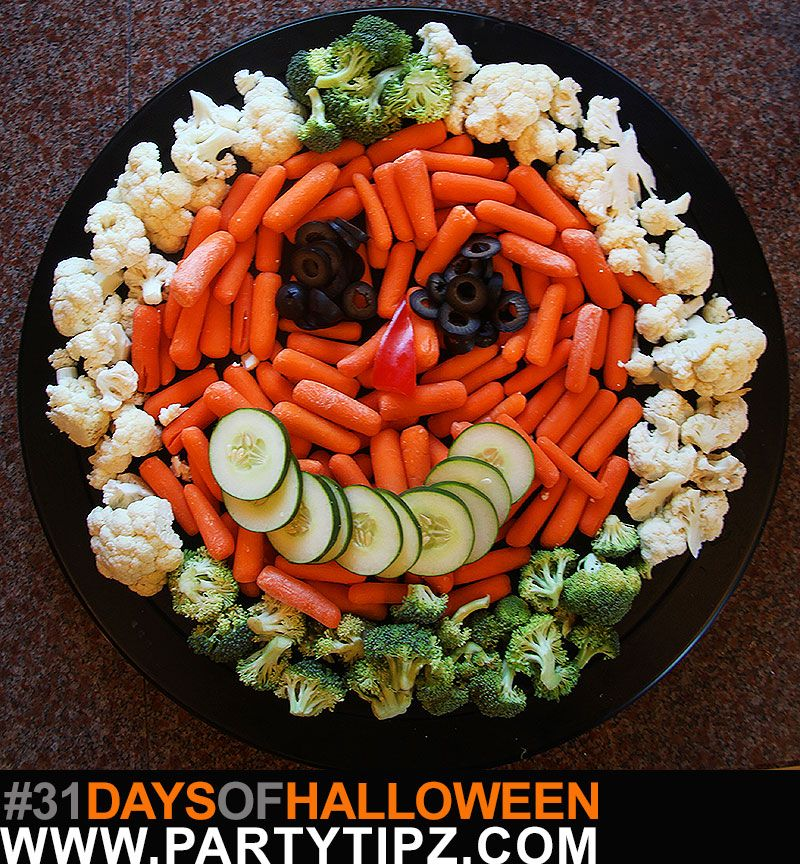 halloween veggie platter who says you can t eat healthy during