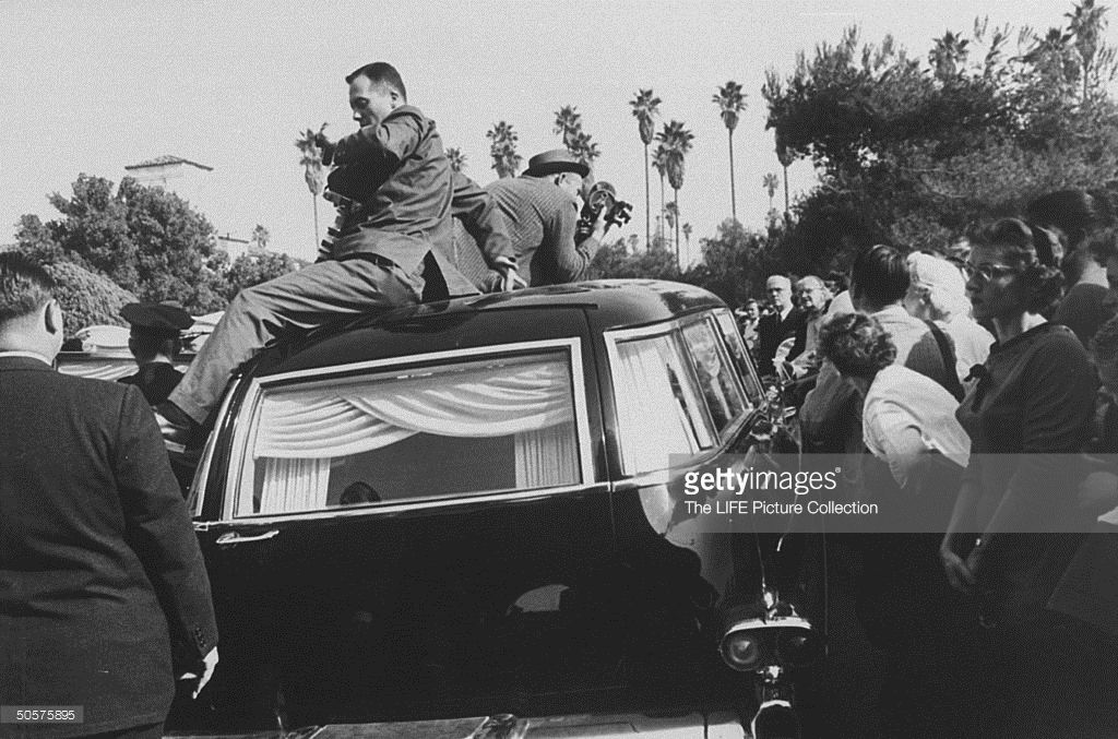Image result for tyrone power's funeral