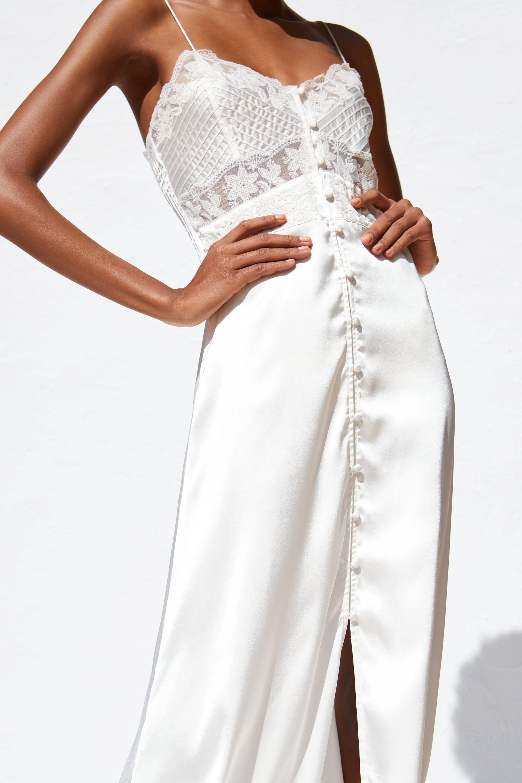 669687319 Satin camisole dress in 2019 | SS19 | Dresses, White satin dress ...