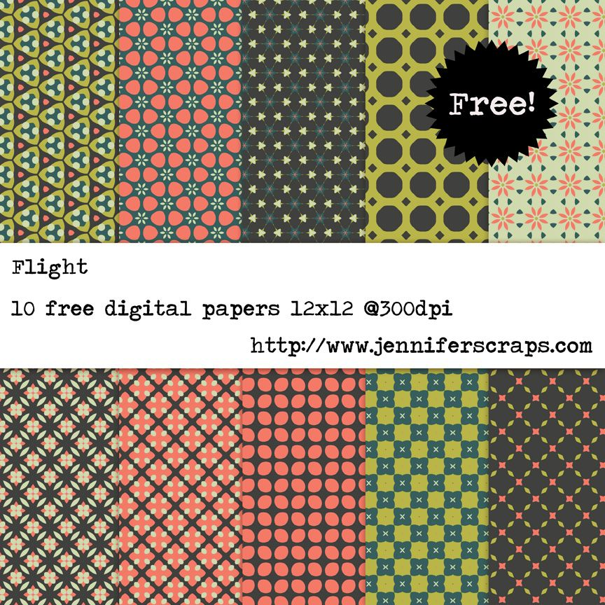Flight Free Digital Paper Pack Personal And Commercial Use Ok