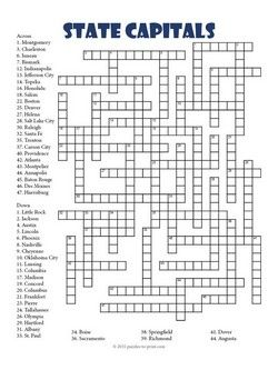 Invaluable image throughout 4th grade crossword puzzles printable
