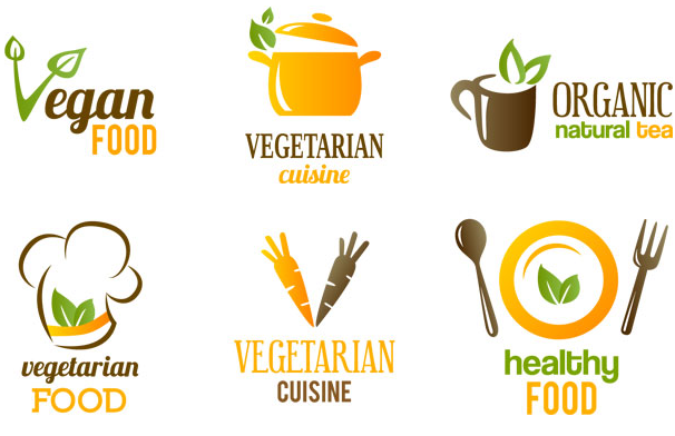 healthy food icon and logo vector design