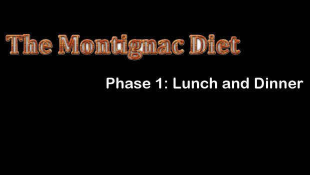 the Montignac diet phase 1 lunch and dinner