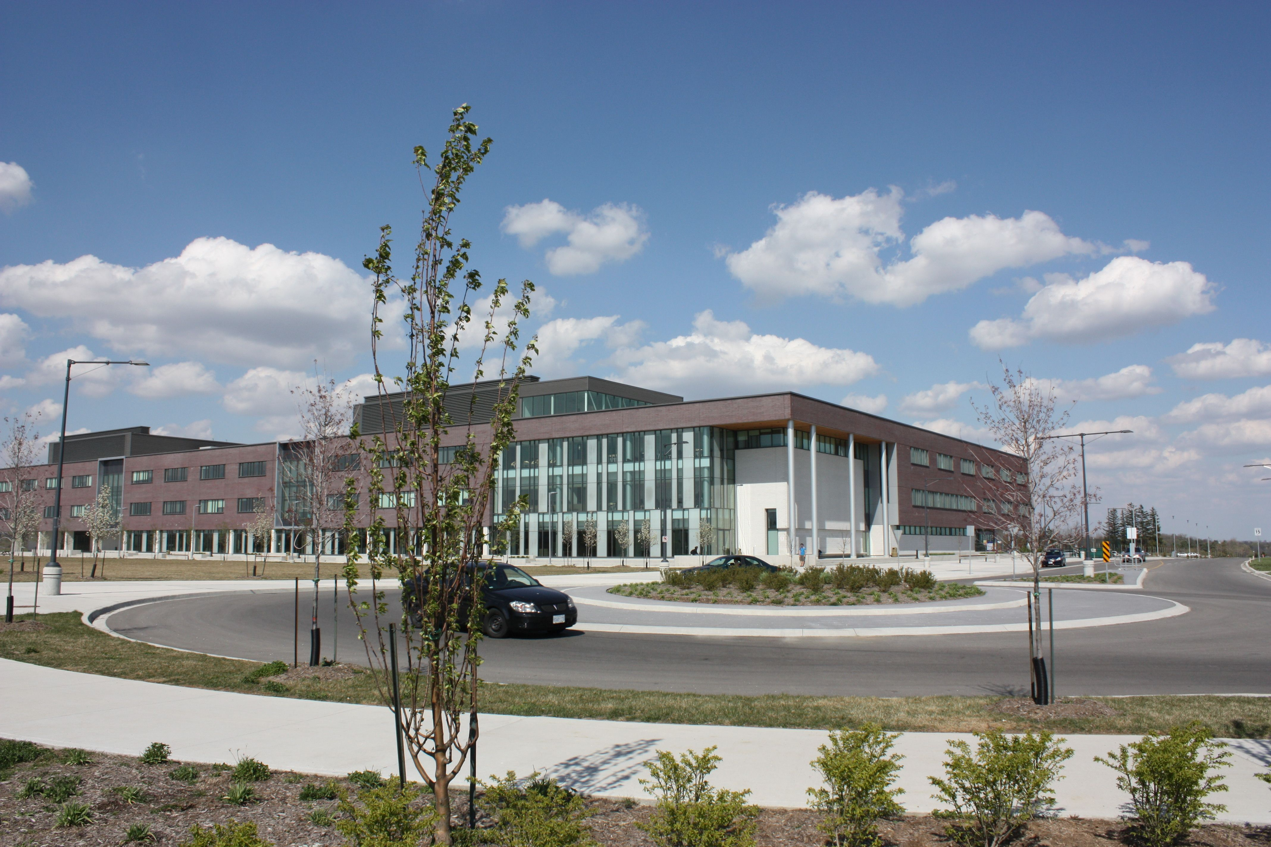 The view from afar of Cambridge Campus at Conestoga College ...