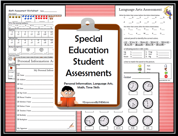Empowered By THEM baseline assessments special education – Life Skills Maths Worksheets