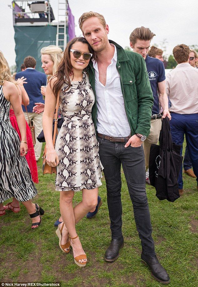 Hot new couple:Samantha Barks and Jack Fox made an gorgeous couple as they turned out forthe Chestertons Polo In The Park at Hurlingham Park, London on Saturday