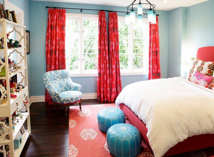 Red teen bedrooms