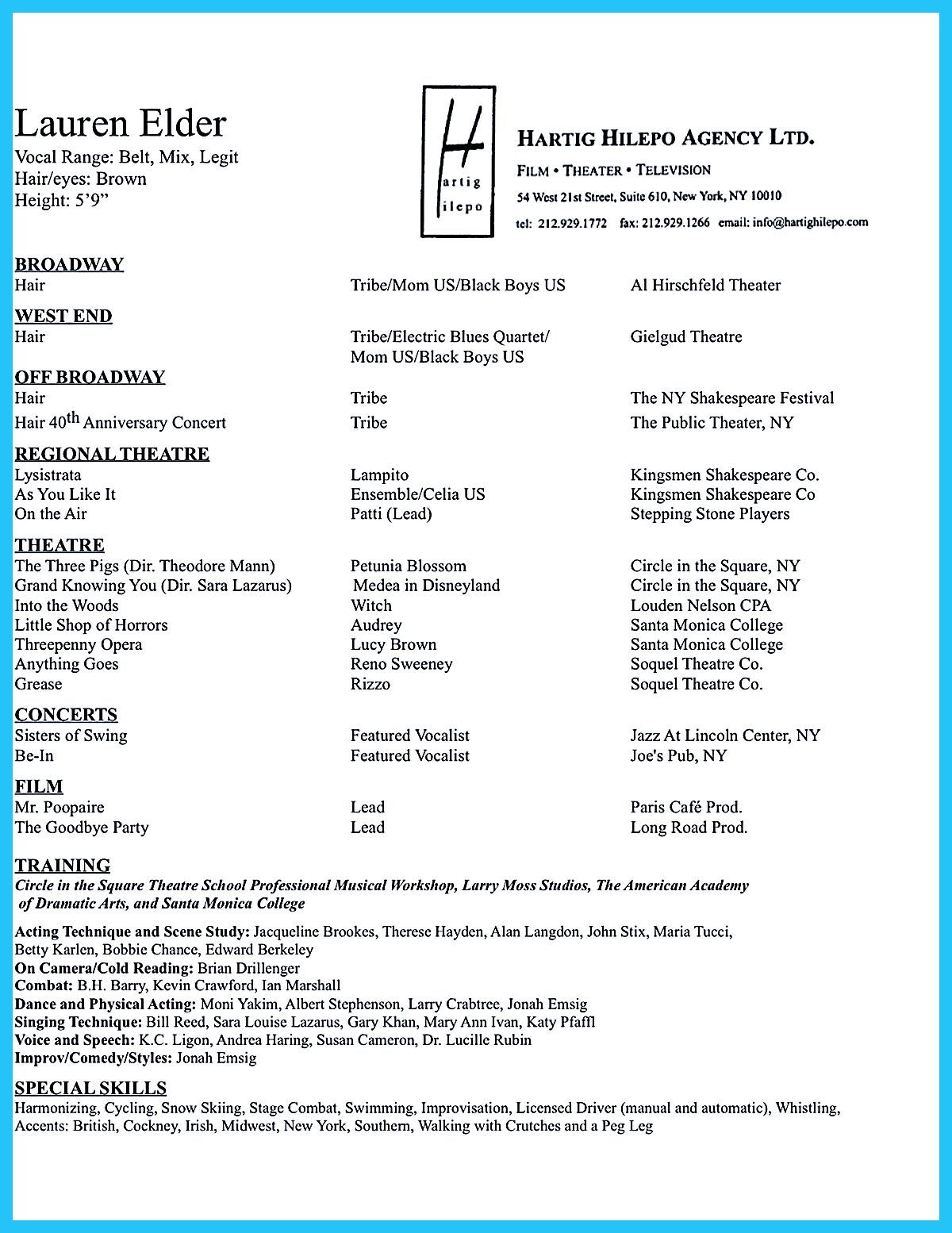 99 acting resume template word resume template 1000 ideas