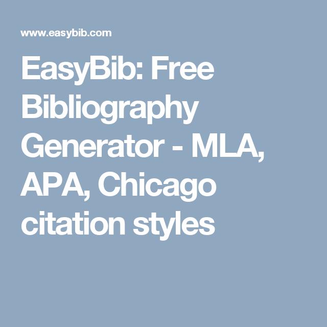 EasyBib: Free Bibliography Generator - MLA, APA, Chicago citation ...