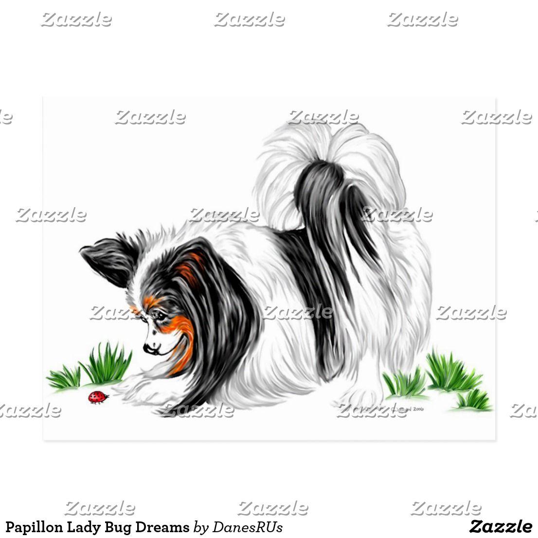 Papillon Lady Bug Dreams Postcard Zazzle Com In 2021 Papillon Dog Papillion Dog Papillon [ 1106 x 1106 Pixel ]