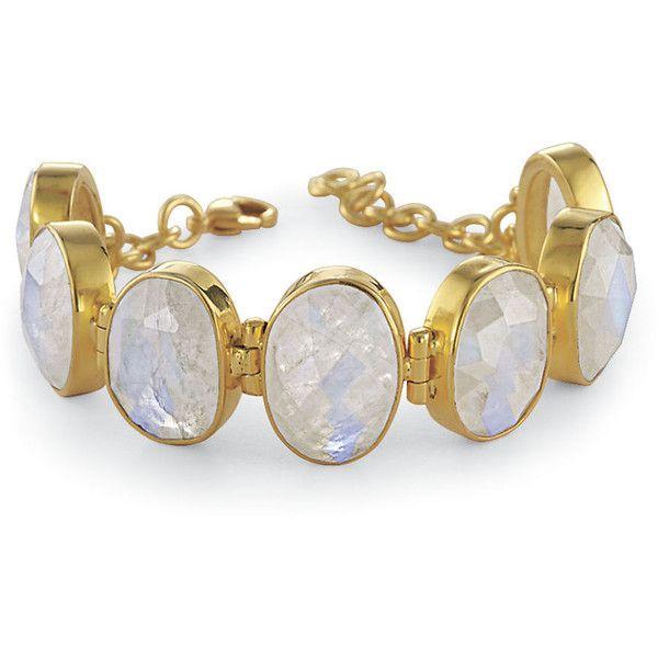 Rainbow Moonstone Bracelet ($100) ❤ liked on Polyvore featuring jewelry, bracelets, pendant bracelet, gothic pendant, rainbow moonstone pendant, celtic jewellery and fancy jewelry