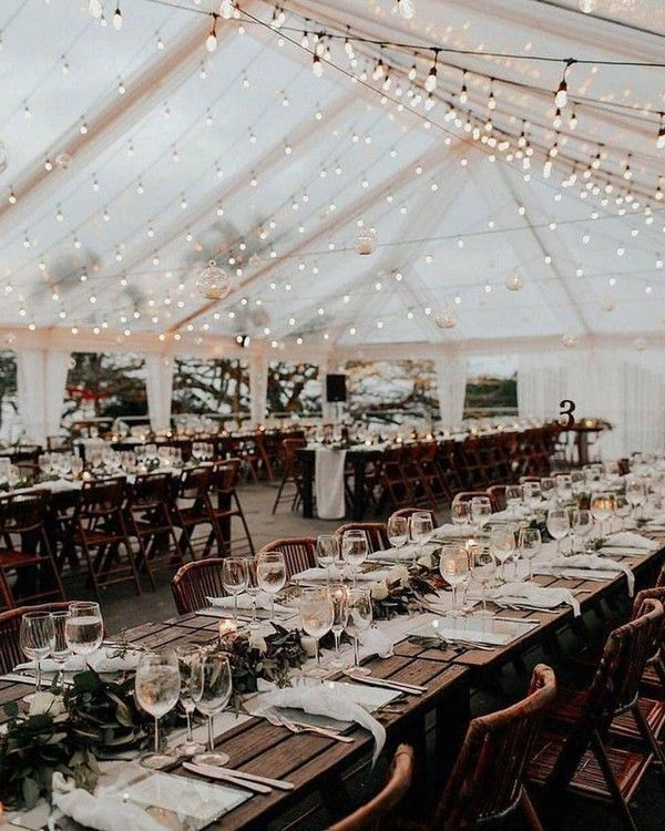 20+ Romantic Wedding Lighting Ideas for Wedding Reception