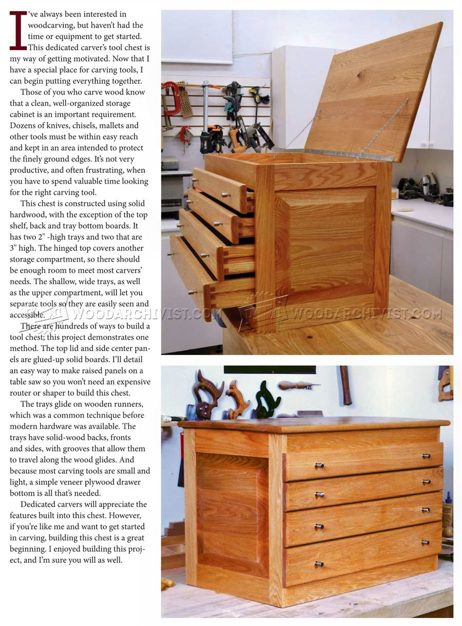 Carvers tool chest plans wood carving solutions
