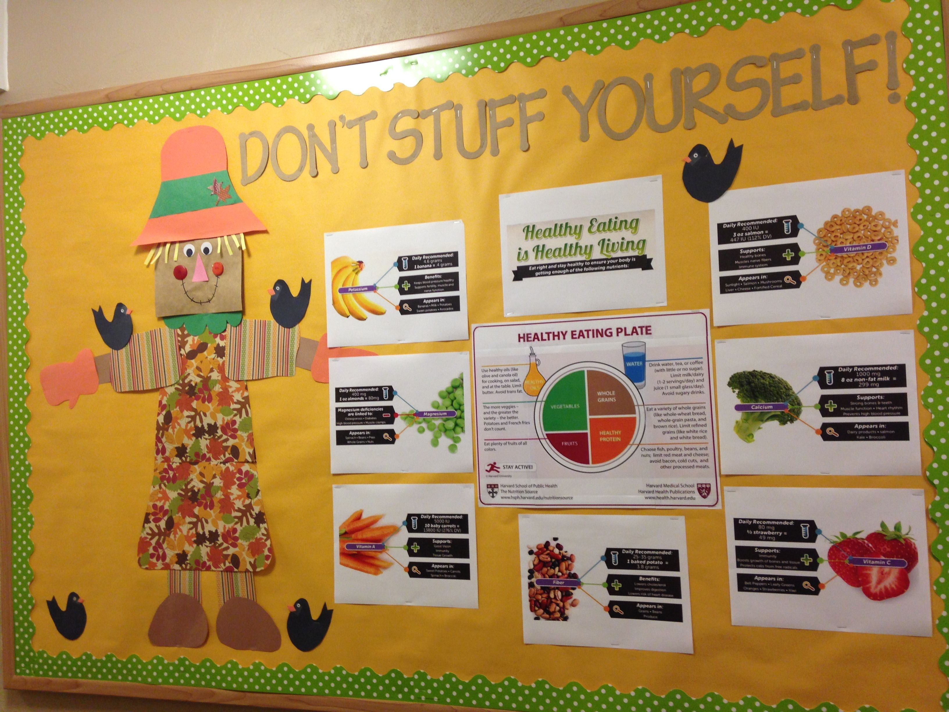 October Bulletin Board Healthy eating October bulletin