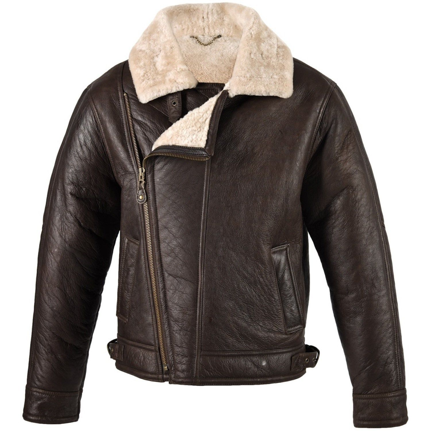Bomber Jacket: Fur lined bomber jackets were worn by fighter ...