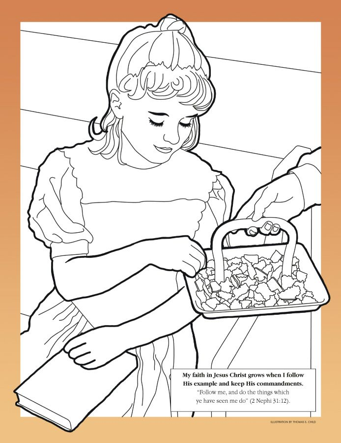 lesson 3 the commandments help us choose the right primary 3 coloring page - Choose The Right Coloring Page